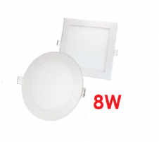 8W Recessed LED Panels Round and Square